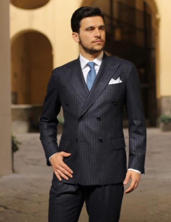 vestito uomo in flanella gessato