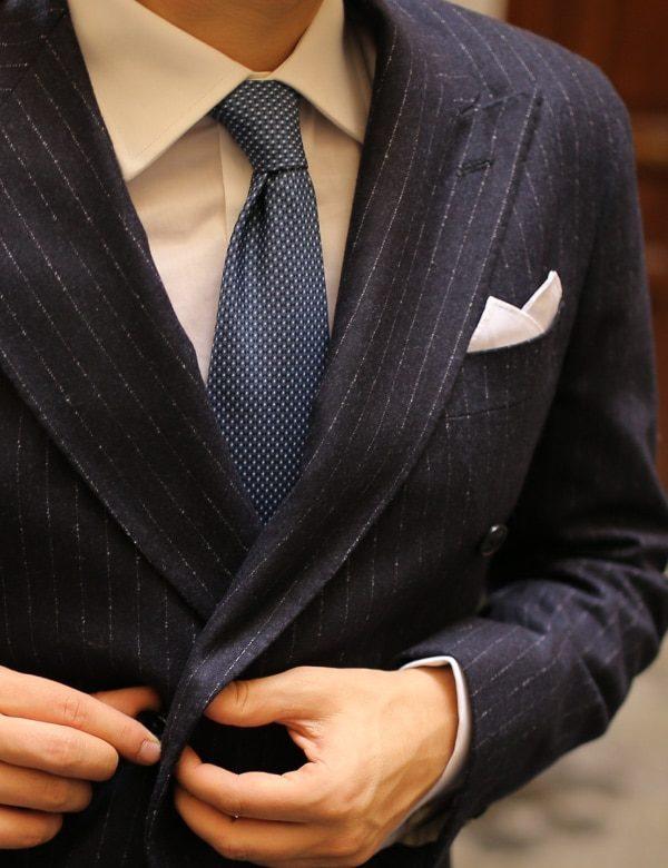 abito uomo in flanella gessato