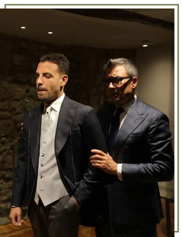 Patrizio Cacciapuoti con cliente