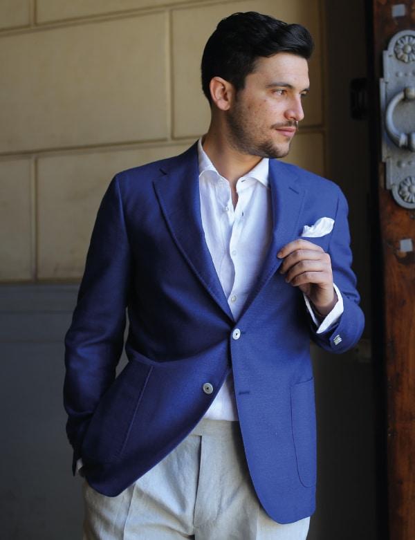 giacca di lana e seta